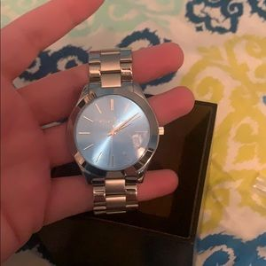 New with tags silver and blue Michael Kors Watch